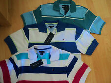NWT Tommy Hilfiger Teenager Boy Striped Polo Shirt Size M or L 12 14 16 18 years