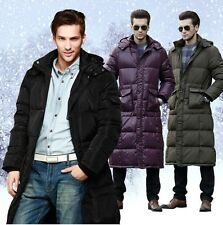 2014 Winter Man DUCK DOWN Jackets Coat Outdoor Hooded Parka Long Trench Coats