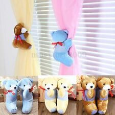 2pcs Baby Bedroom Plush Bear Curtain Tieback Hook Holder Buckle Cartoon Decors