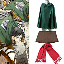 Attack on titan Shingeki no Kyojin Cosplay Cloak/Scarf/Skirt Halloween Cosplay E