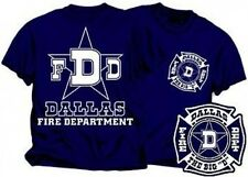 DALLAS FIRE DEPARTMENT DUTY STYLE T-SHIRT FIREFIGHTER TEES