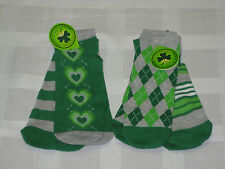 2 Pack St. Patrick's Day Socks Size 4-10 For Girls By Walmart New With Tag GREEN