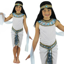 CHILD'S EGYPTIAN GIRL COSTUME QUEEN OF THE NILE CLEOPATRA FANCY DRESS PHARAOH