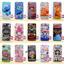 Cute Cartoon Pearly Glitter Colorful Soft TPU Back Case Cover For Apple &Samsung