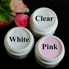 Clear Pink White MIX Colors Nail Art Acrylic Powder Crystal Nail Polymer Builder
