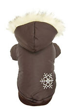 New Arrival Brown Thick Cotton Pet Dogs Winter Coat Free Ship Clothing for dog