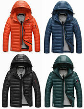 Men Warm Hooded Parka Winter Thick Duck Down Coat Outwear Down Jacket 4 Colors