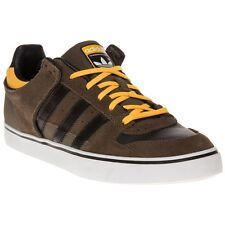 New Mens adidas Brown Culver Vulc Suede Trainers Retro Lace Up