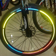 Bike Wheel Reflector Sticker Car Cycle Reflection Bicycle (8 stickers per order)