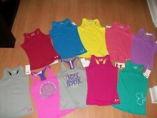 Under Armour Girls Fitted Solid or Graphic Victory Tank Top MSRP $19.99-21.99