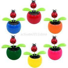 One Flip Flap Solar Powered Flower Flowerpot Swing Dancing Toy Gift 6 Colors New