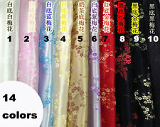 MAT58 Solid Luxury flower Rayon Dobby Jacquard sewing fabric 90cm WIDE BY YARD