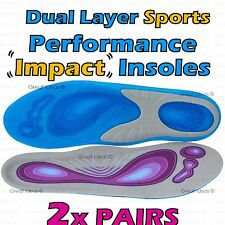 GEL SUPPORT Shock Impact ORTHOTIC Insoles - Heel Cushion Ankle Arch Foot Pain