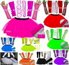 NEON TUTU  SET & ACCESSORIES  80'S FANCY DRESS