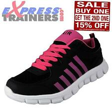 Airtech Womens Revenge Shock Absorbing Running Gym Trainers Black * AUTHENTIC *