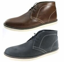 Mens Red Tape Crumlin Real Leather Lace Up desert boots White Soles