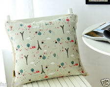 Double sided cotton and Linen patchwork print Sofa cushion case/pillow cover