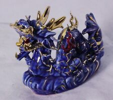 Feng Shui Dragon - Hand Crafted and Decorated Chinese Porcelain, Figurine 40321