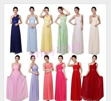 Fancy Party Wedding Bridesmaid Formal Prom One-shoulder Long Evening Gown Dress