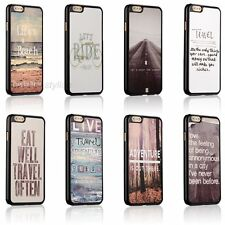 New Love Travel Life Quotes Hard Back Cover Skin Case For Apple iPhone 6/6 Plus