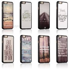 New Love Travel Life Quotes Hard Back Cover Skin Case For Apple iPhone 6 6 Plus