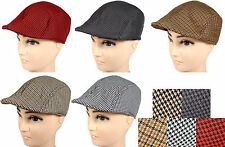 Summer Gatsby Cap Ivy Houndstooth Mesh Interior Hat Golf Sun Flat Cabbie Newsboy