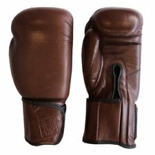 Rhingo Leather Brown Gloves Hook and Loop Style for Boxing, Muay Thai, MMA