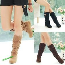 2014 Women'sAutumn Winter Ladies Boots Lace Cuff Increased Internal Woolen Shoes