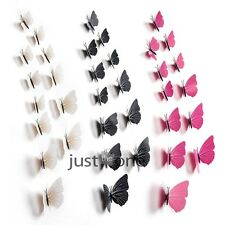 12pcs Beautiful Butterfly Art Decal Wall Stickers Home Decor Fridge Decoration