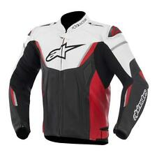 Alpinestars GP-R Leather Mens Perforated Motorcycle Riding Jacket Red Black