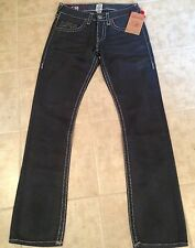 True Religion Jeans BOBBY SUPER T Straight Leg Coated Ted Charcoal Mens Size 30