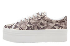 Jeffrey Campbell Play Zomg Snake Grey Platform Sneakers - Suola alta serpente