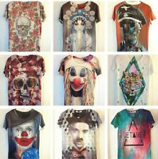 2014 Hot Sale! Men's Women's Clown Magic Warriors Skull 3D Space Galaxy T-shirt