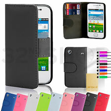 WALLET PU LEATHER CASE COVER FOR SAMSUNG GALAXY ACE 2 4 PLUS Screen Guard