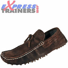 Base London Mens Gambon Slip On Leather Moccasin Driving Shoes Brown *AUTHENTIC*