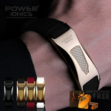 Power Ionics Gold/Black/Silver 3000ions Titanium Waterproof Bracelet Lover Gifts