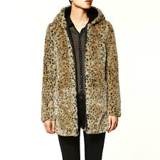 Sexy Fashion Women Fashion Women Warm Leopard Print Faux Fur Jacket Coat