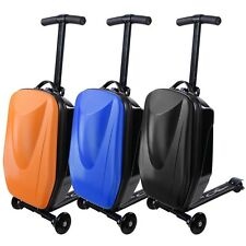 Blue/Black/Orange Rolling Luggage Scooter Wheel Suitcase for Business Travel