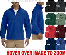 Mens Soft Polar Fleece Warm Full Zip Jacket Winter Coat Pockets S-2XL 3XL 4XL