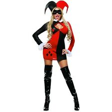 Sexy Harley Quinn Costume Adult Harlequin Jester Halloween Fancy Dress