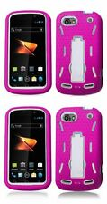 ZTE Warp Sequent (N861 - Boost Mobile) Rugged Skin Cover Case- CLOSEOUT SALE