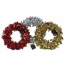 Tear Drop Laser Tinsel Door Wreath Christmas Home Decoration Red/Gold/Silver