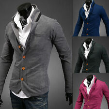 Free ship Casual knitted Slim Stand Collar Buckles Suit Coat Jackets solid 4size