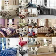 STRIP ,CIRCLE ,CHECK AND PLIN DUVET COVERS WITH PILLOW CASES