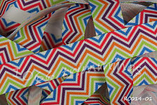 Reel Chic Grosgrain Ribbon Collection 22mm Wide Geometric Zig Zag RC014-01