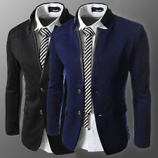 Winter Men Business Formal Suit Trench Coats Blazer Man Jackets Military Outwear