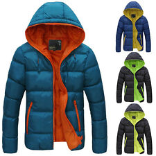 MENS PARKA WARM HOODIE JACKET WINTER PADDED COAT OUTWEAR OVERCOAT