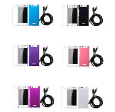 3In1 Hard Rubberized Plastic Cover Case+ SP+ USB Cable For Gionee Elife E7 Mini