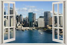 WINDOW Sticker sydney Australia Skyline View Vinyl Decal Decor Mural Wall Art