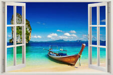 Mediterranean Scene Window Home Decor Decals Art Vinyl REMOVABLE Wall Stickers